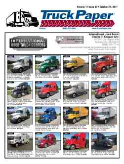 truck trader paper Our brands connecting buyers results for equipment available through machinery trader, tractorhouse, and truck paper to offer buyers and sellers around the globe.