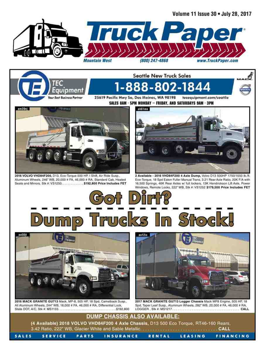 Reproduction of material appearing in Truck Paper is strictly prohibited  without express prior written consent. Truck Paper is a registered  trademark of ...