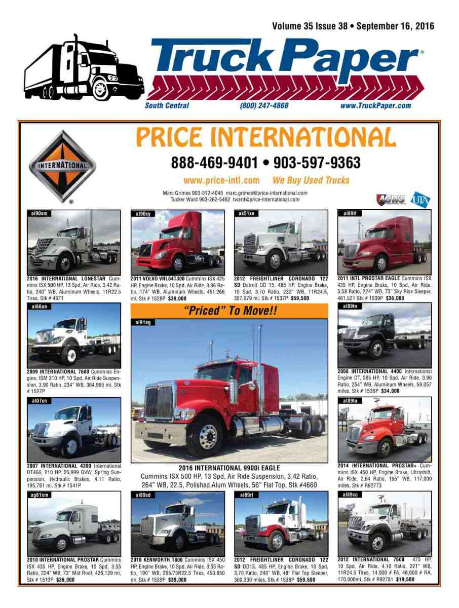 truck paper international Welcome to coffman international trucks established in 1976, coffman international has grown into the premier truck sales, parts, service, rental and leasing operation in the area primary lines include international and mitsubishi trucks we also offer a fleet of rental straight trucks, tractors and trailers.