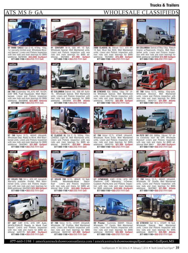 05811372058 Truck Paper